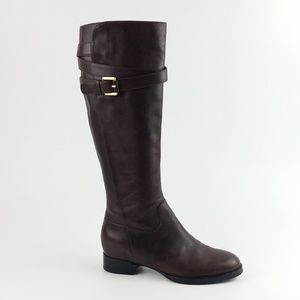 Ecco Size 35/5 Brown Leather Tall Boots B7-3